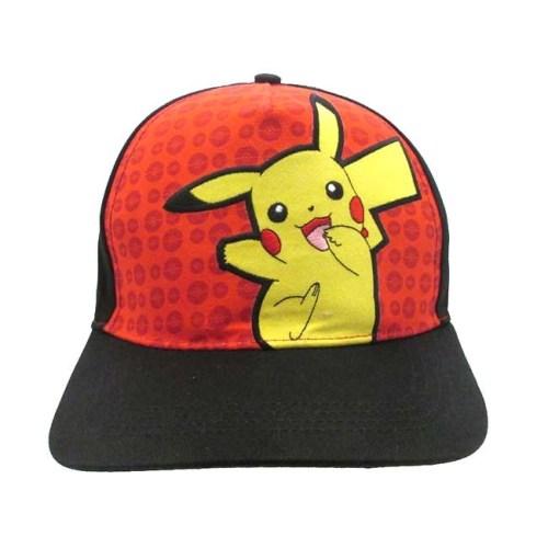 Cappello con Visiera Pikachu con ricamo sul retro Pokemon