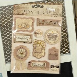 Stickers 3D Vintage Diseño N°6