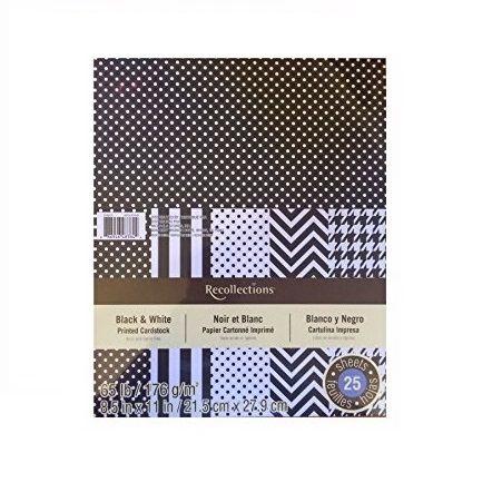 Paper Pack Core Dinations Black and White
