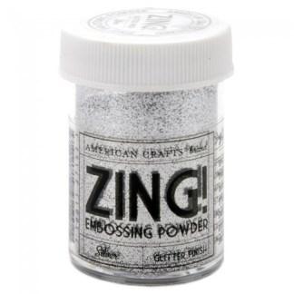 Polvo para Embossing Color Plateado, marca Zing