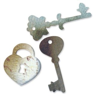 Sizzix Originals Die – Heart Lock and Keys