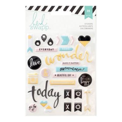 Puffy Stickers Memory Planner Heidi Swapp