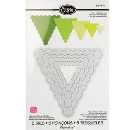 Framelits Triangulos Festoneados, Sizzix