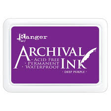 Pad de Tinta Deep Purple, Archival Ink