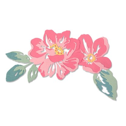 Thinlits Flowers Rolled, Sizzix