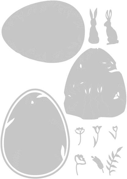 Thinlits Juego de troqueles, diseño de primavera