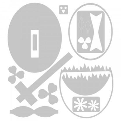 Matriz Sizzix Thinlits, Huevo de Pascua12/Pkg