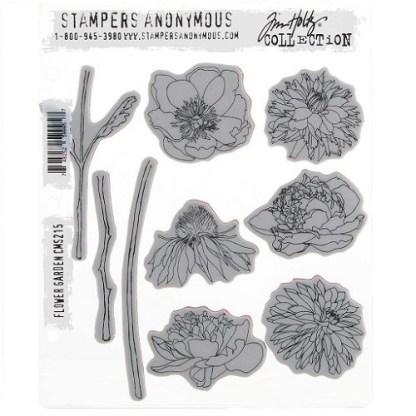 Stampers Anonymous Tim Holtz Flower Garden