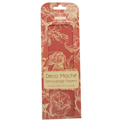 Jadore Red Roses Decoupage