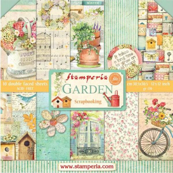 Pack Paper Colection Garden, Stamperia