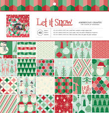 Stack Papeles Estampados Let It Snow, American Crafts