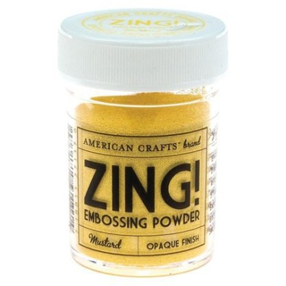 Polvo Emboss Color Mostaza, marca Zing