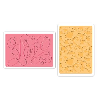 Pack Texturizadores Love and Flowers, Sizzix