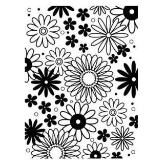 Darice Embossing Folder Flower Frenzy Background