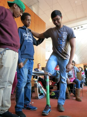 Mentees Love Victor and Eric Morale opted for a minimalist design with their prosthesis, as modeled by mentor Nischal Bhandari.