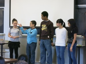 At the end of the activity, the students shared out their findings to their peers and mentors.