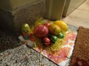 Ostergruß vor der Haustür