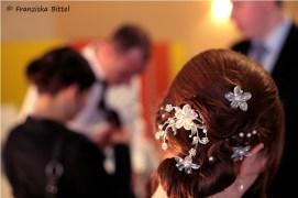 Detail Brautfrisur