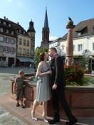 Kuss am Brunnen in Emmendingen