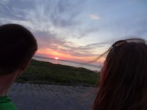 Unser Blick auf den Sonnenuntergang.