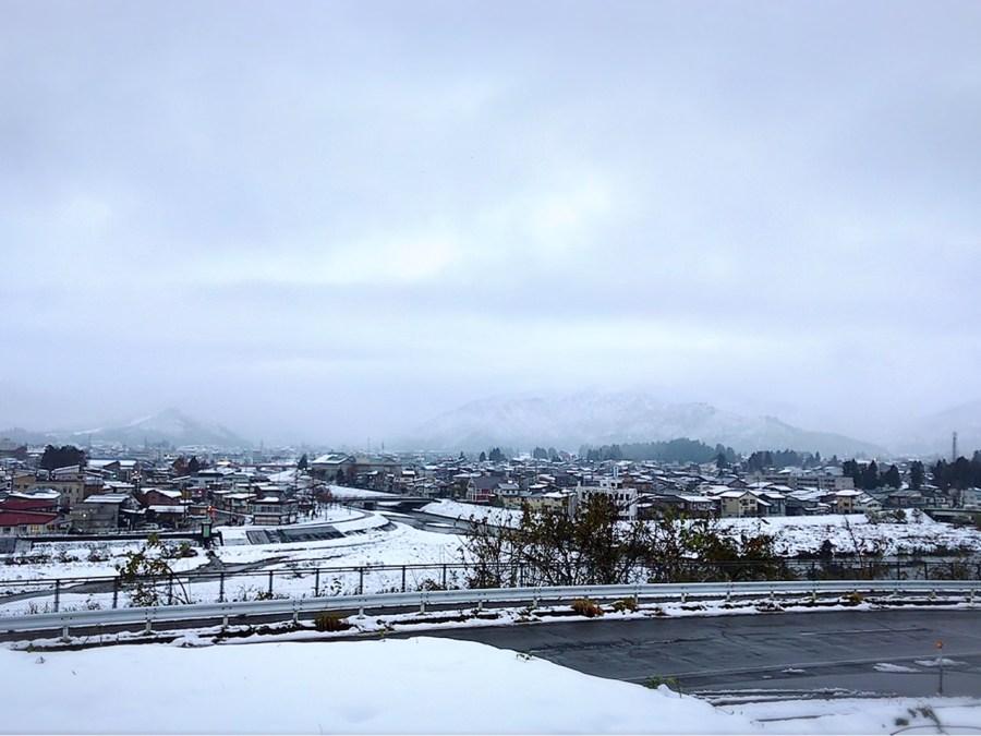 小出地区の雪景色