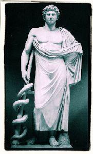 Asclepio (Esculapio romanos)