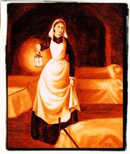 La señora de la lámpara