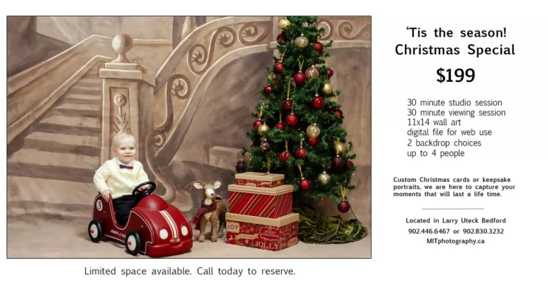 Christmas Portraits in our Photography studio Bedford | Halifax