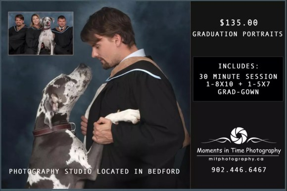 Dalhousie Grad photo with Dog