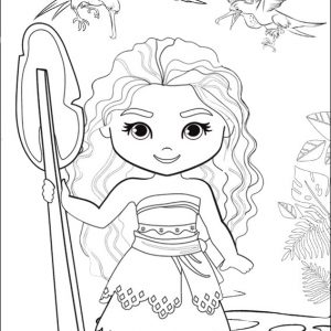 9 Magnificent Moana Coloring Pages For Your Daughter Mitraland