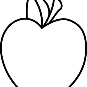 Fresh Apple Coloring Page Mitraland