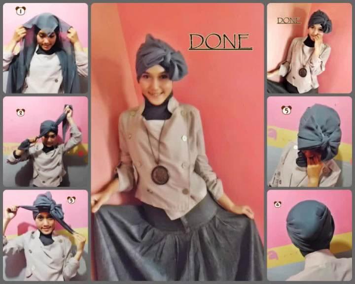 Cara Membuat Model Jilbab Paris Agar Tidak Menerawang