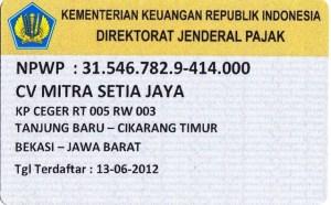 About Us Profile Mitra Setia Group - Dokumen Legalitas CV Mitra Setia Jaya Cikarang - NPWP