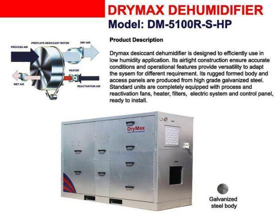 Dehumidifier Drymax DM 5100 HP
