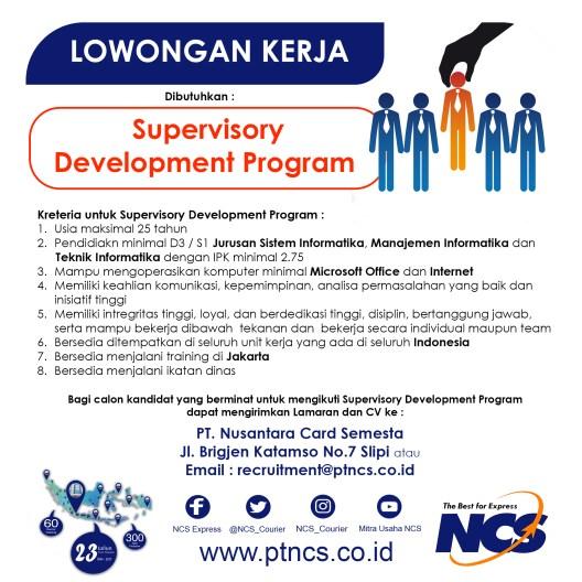 lowongan kerja Supervisory Development Program