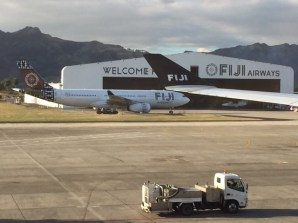On arrival at the Nadi, Fiji airport