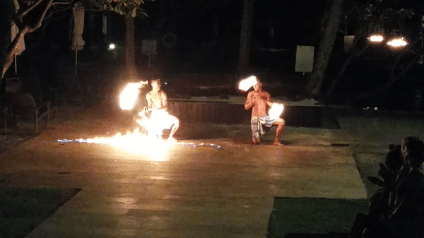 Fire dance at the hotel - 3