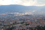 View of Medellin from the cable car - 3