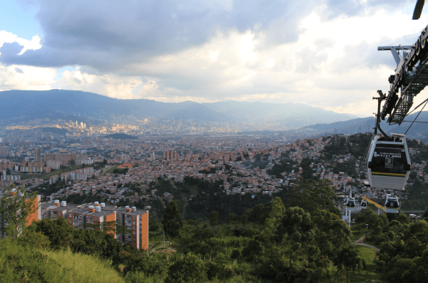View of Medellin from the cable car - 4