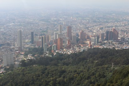 Bogota city view from Monserrate