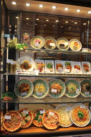 Plastic food replicas outside every restaurant in Japan