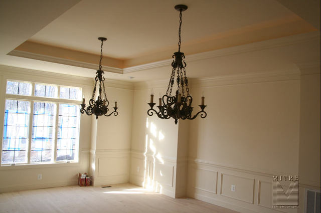 CEILING TREATMENTS Dining Room With 3pc Crown 2pc