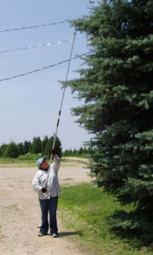 LA-180ZF305: 6'-10' EXTENDABLE LONG ARM PRUNER, RAZOR-EDGE BLADE