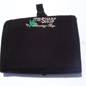 SHARP SHOP LEG GUARD CHAPS, BLACK DENIER NYLON
