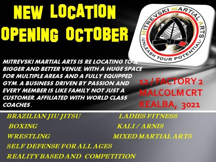 NEW LOCATION OPENING OCTOBER