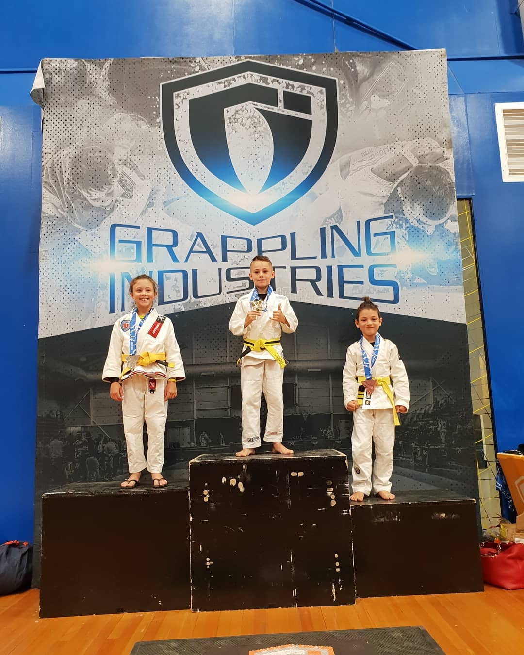 First  Jiu Jitsu comp of the year for Jack with great results