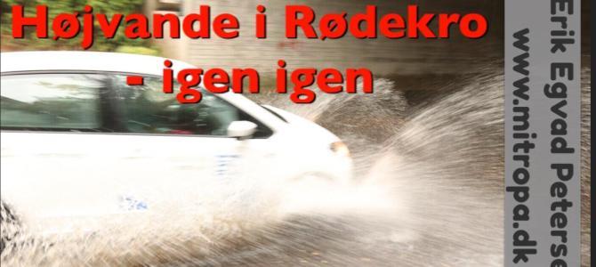 SE VIDEO – Regnvejr gav højvande i Rødekro