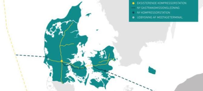 Gas fra Polen skal gå tværs gennem Danmark