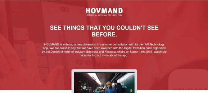 Virksomheden Hovmand A/S vinder regeringens nye digitale pris 'Årets Digitale SMV:Omstilling 2019'