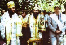 Împreună cu Mitropolitul Daniel (Ciobotea) și Președintele Mircea Snegur